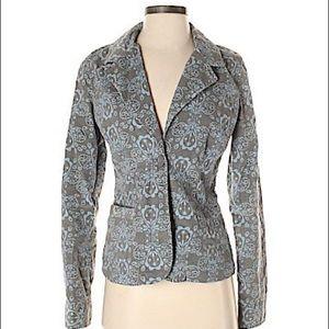 Fossil velvet design blazer jacket